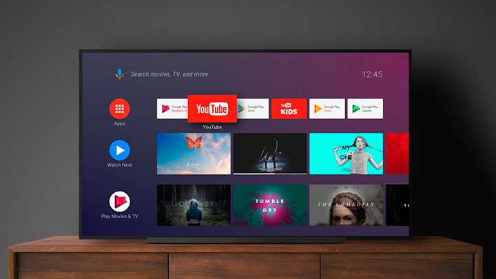 Android TV Home - лаунчер от Google